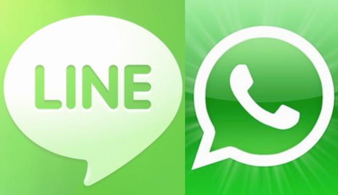 Logos de Whatsapp y Line