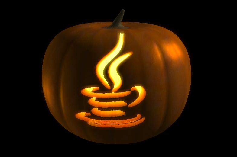 Logo de Java sobre calabaza