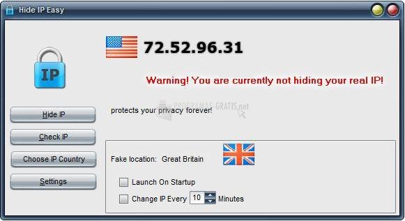 Programa para ocultar la IP