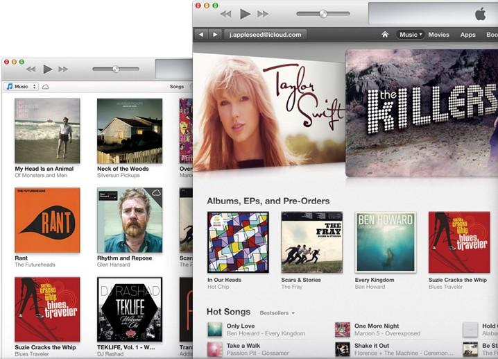 iTunes, para descargar música y reproducir.