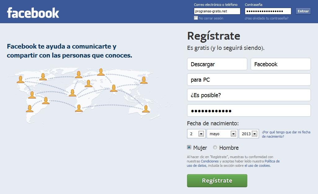 Facebook para pc