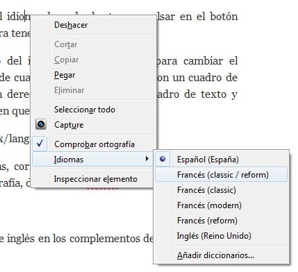Corrector ortografico en Firefox.