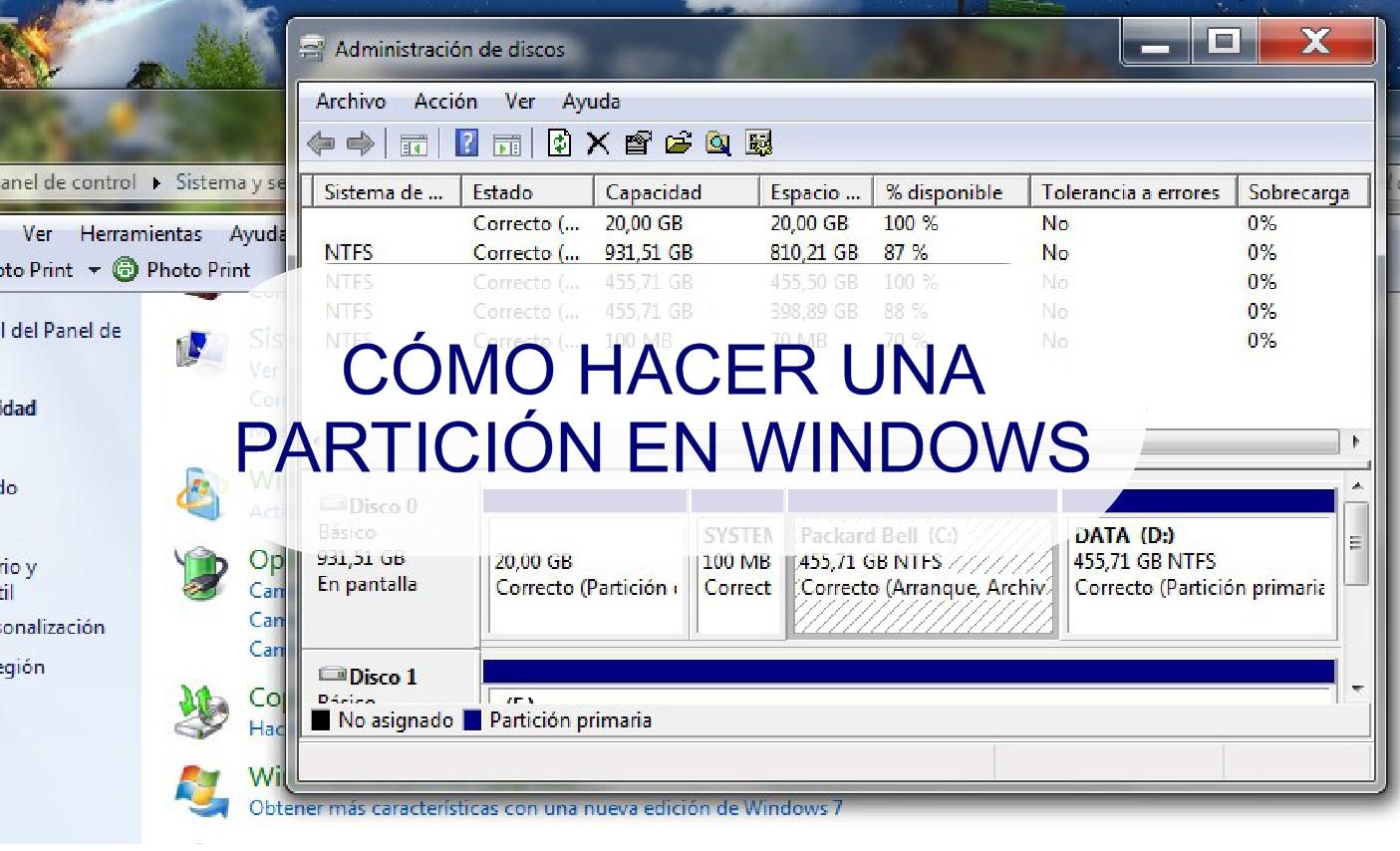 C mo crear una partici n en windows 7 blog de programas - Como instalar una bisagra de 180 grados ...