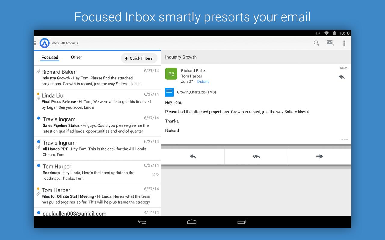 Thumbail de Acompli, el mejor cliente de correo para tu móvil