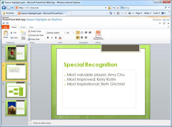 Thumbail de Programas para exponer o crear presentaciones