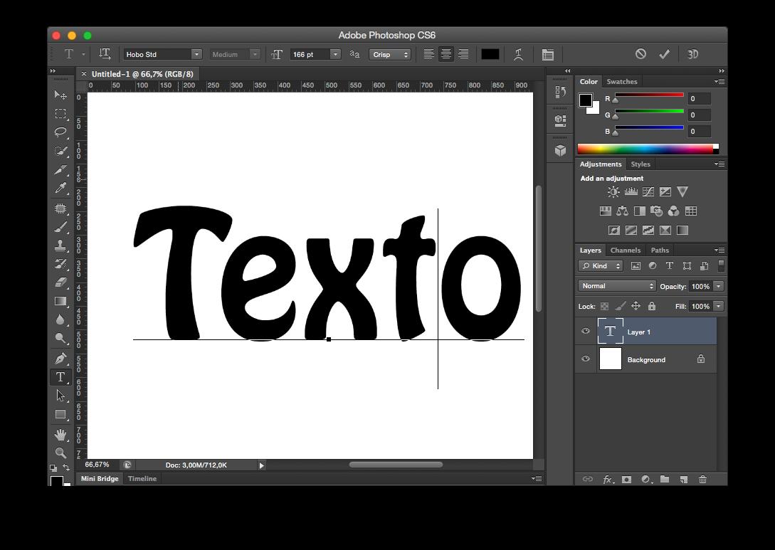 Texto sin gradiente