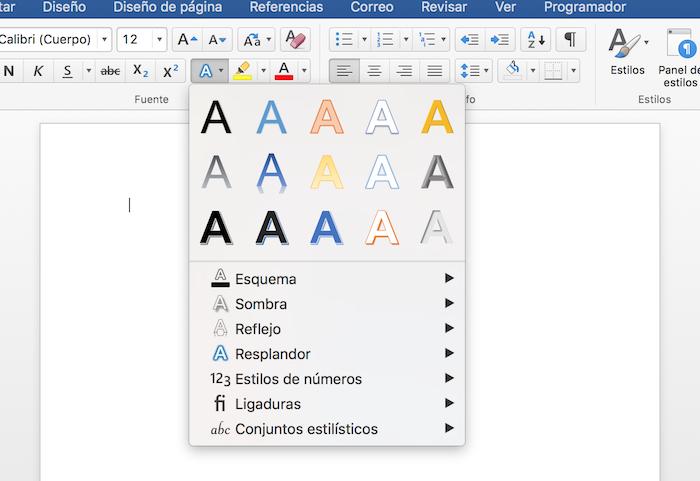 Cómo crear efectos de letras